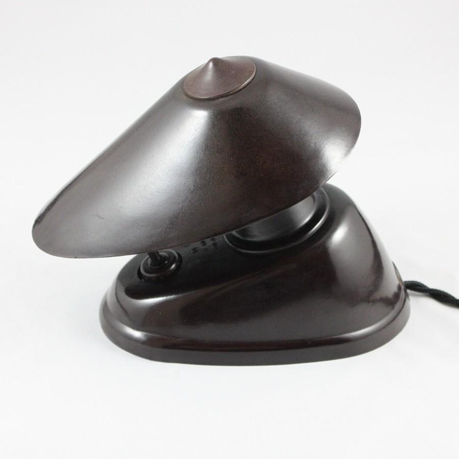 ASYMMETRICAL BROWN BAKELITE LAMP - 4 - INTEMPORELS.COM